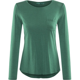 Prana Foundation L/S Crew Neck Top Dame true teal heather